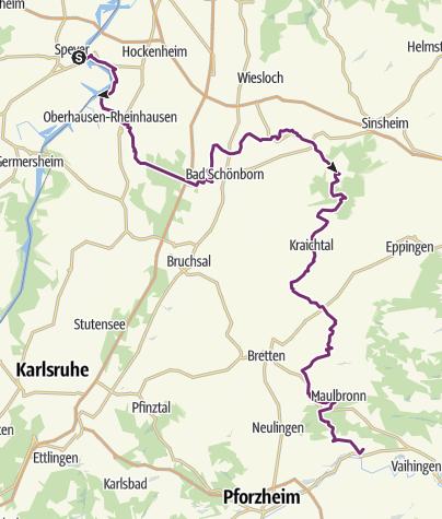 Karte / Kraichgau-Stromberg: Welterbe-Tour