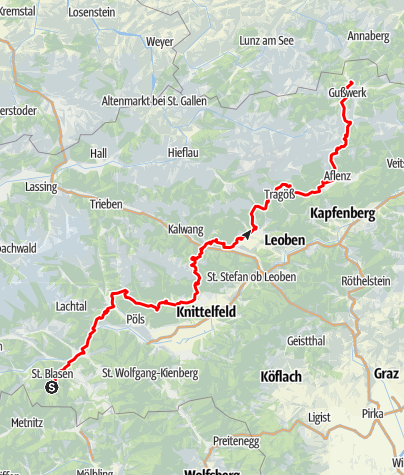 Karte / Mariazeller Gründerweg St. Lambrecht - Mariazell