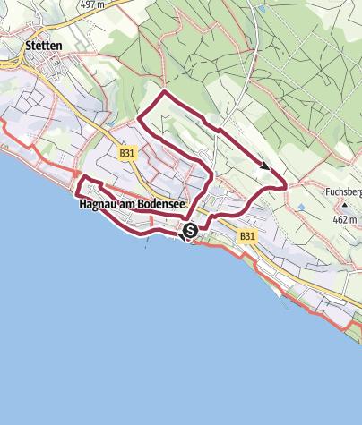 Karte / Wanderung durch Hagnau und die Weinberge