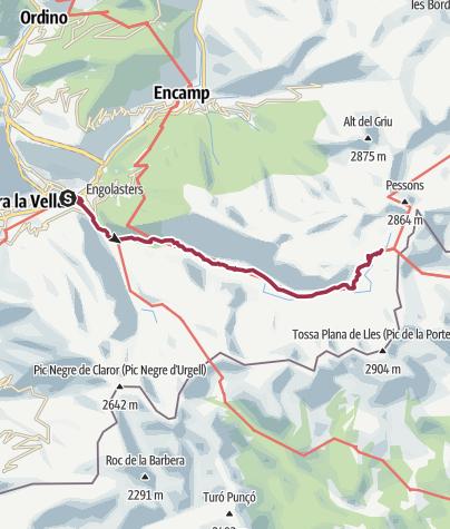 Map / Escaldes-Engordany to Rifugi de L'illa