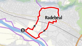 Karte der Tour Radrundweg Oberlößnitz