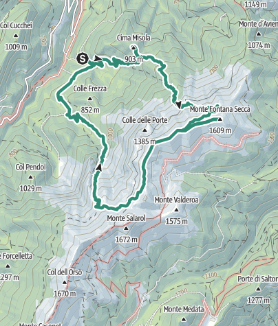 Cartina / Sentiero della Misola – Monte Fontana Secca – Val Busa della Neve