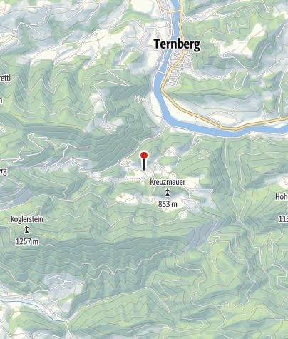 Karte / Info und Parkplatz 460m