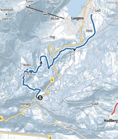 Map / Brünigpass - Ober Brünig - Lungern