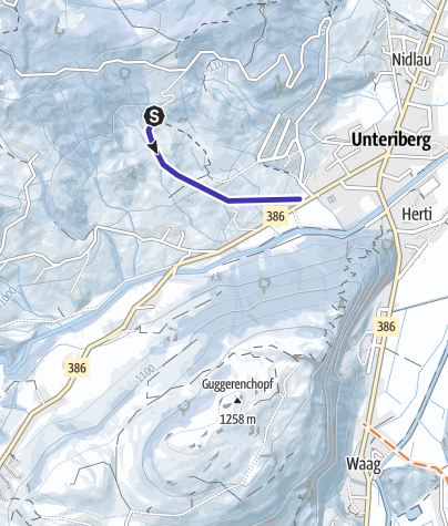 Karte / Höchgütsch Schlitteln