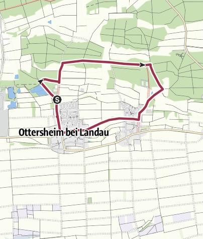 Karte / Ottersheim - Knittelsheim - Rundweg: Bären-und-Kätzel-Weg