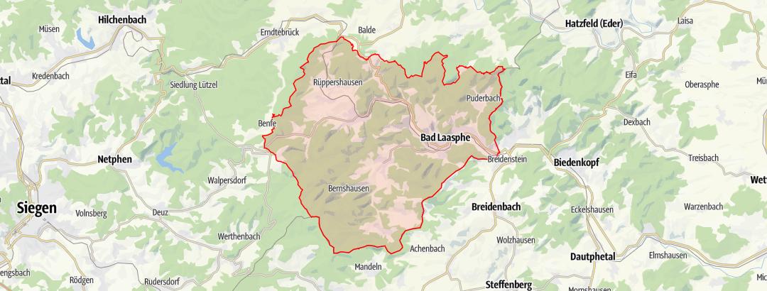 Karte / Wanderkarte Bad Laasphe