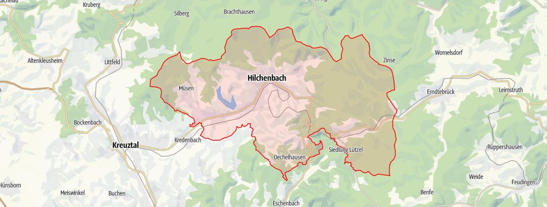 Karte / Wanderkarte Hilchenbach