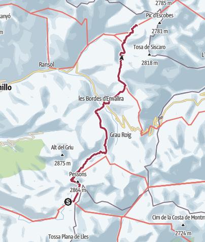 Map / Refugi de L'illa to Refugi de Juclà