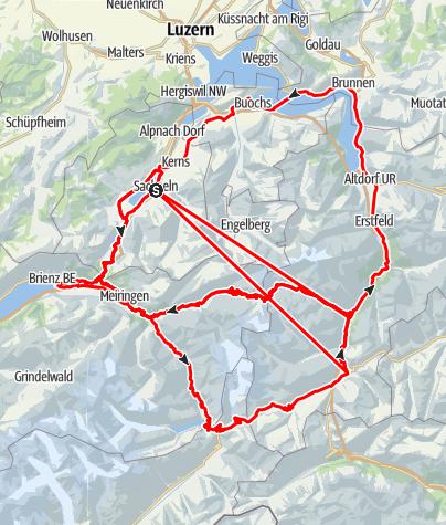 Carte / Touring-Route 2: Pässe-Tour