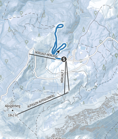 Karte / Rinderalp-Loipe Mörlialp