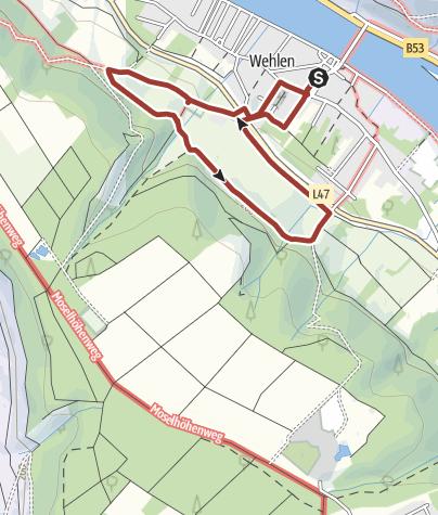 Karte / Wehlener ObstArtWeg