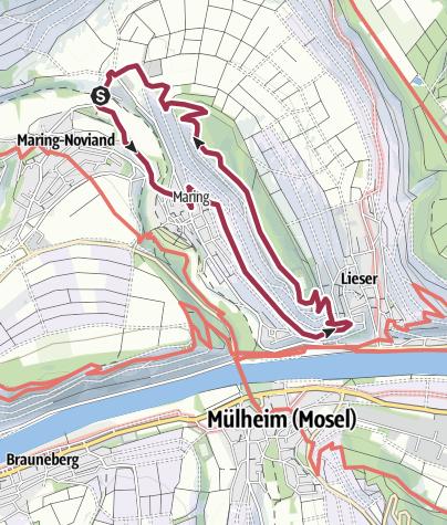 Karte / Honigberg-Tour in Maring-Noviand an der Mosel