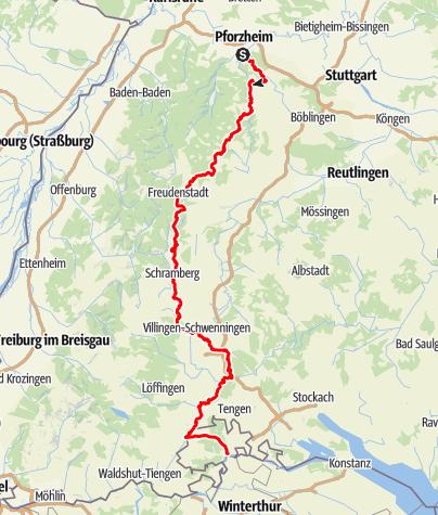 Map / Schwarzwald-Ostweg