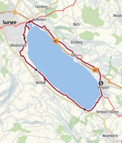 Map / Lake Sempach circular path