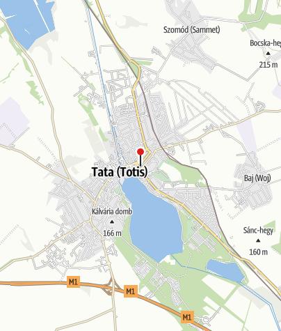 Karte / Tata, Országgyülés tér,Glockenfuss