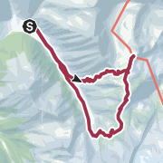 Karte / Rundgang Tuxer Joch-Frauenwand