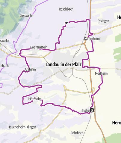 Karte / Winzer-Radrundweg