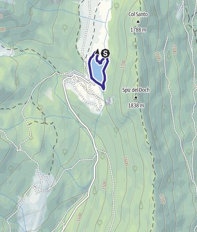 Karte / Lago di Calaita D