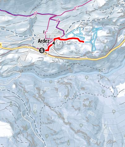 Karte / Ardez - Il Lai (retour)