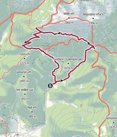 Map / Begunje Shepherd's Trail