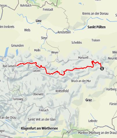 Karte / Nordalpenweg 01 durch die Steiermark