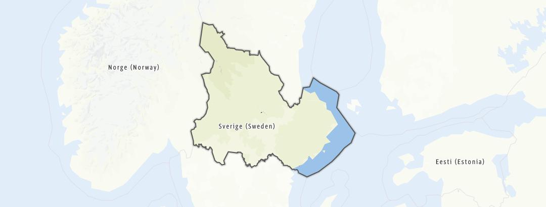 Mapa / Běhy v oblasti Svealand