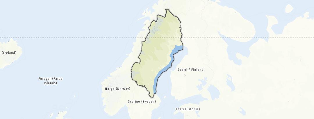 Carte / Chemins de pèlerinage - Norrland