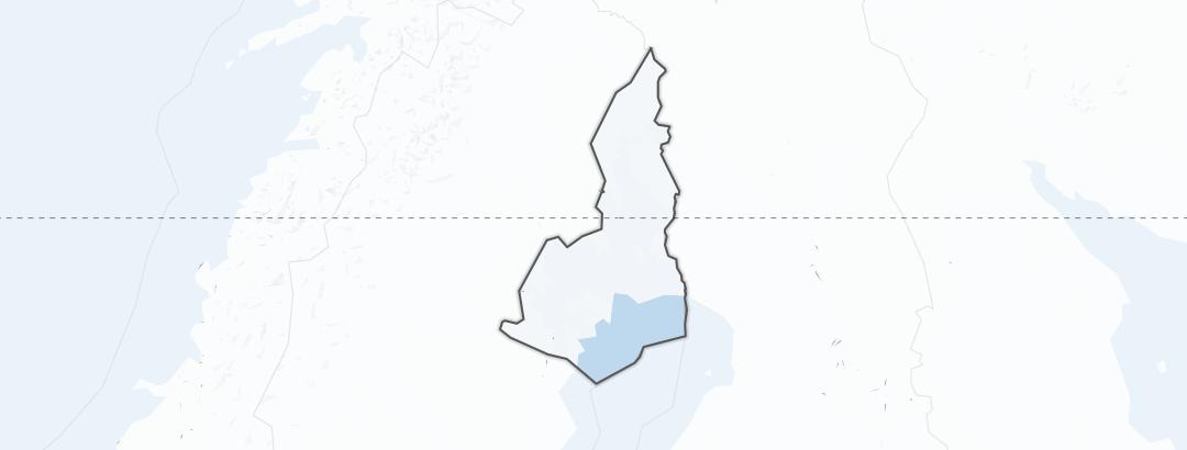 Kart / Vinteraktiviteter i Norrbotten
