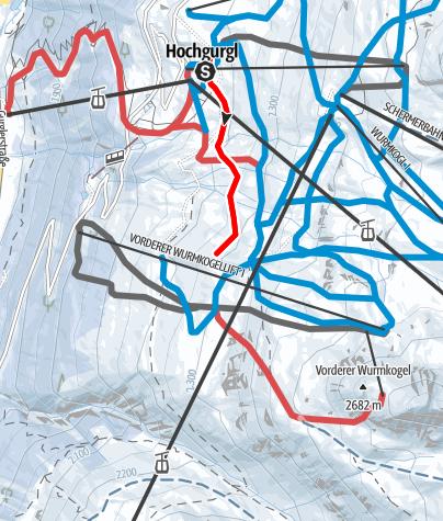 Karte / Übungsloipe Hochgurgl