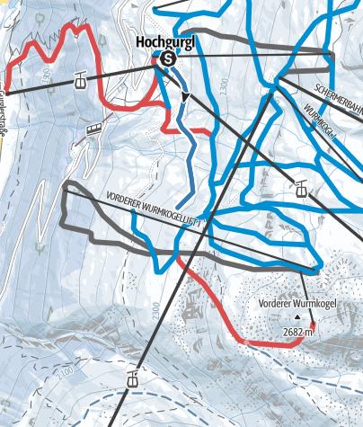 Map / Practice Trail Hochgurgl