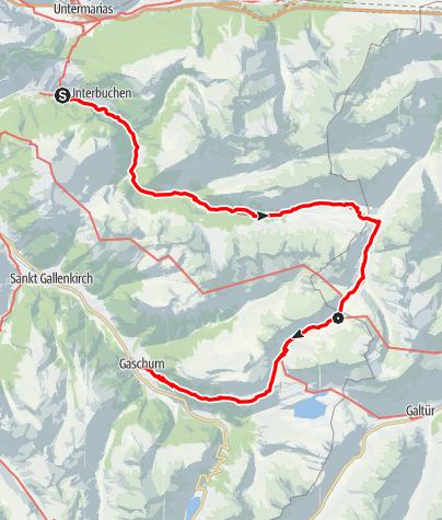 Karte / Verwallrunde Montafon