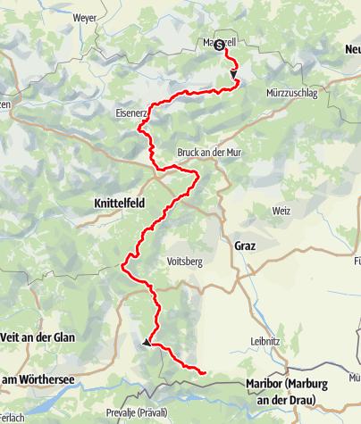 Karte / Nord Süd Weitwanderweg 05 durch die Steiermark