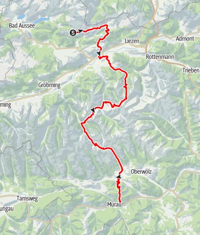 Karte / Salzsteigweg 09 durch die Steiermark