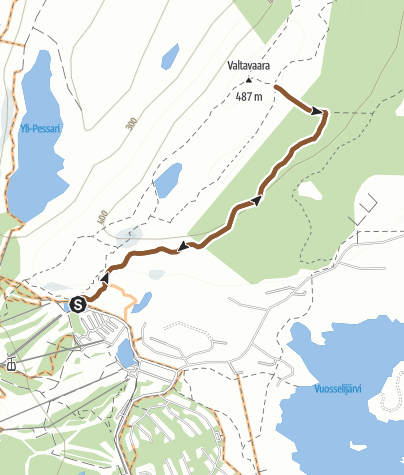 Map / Valtavaara mountainbiking trail in Ruka, Kuusamo