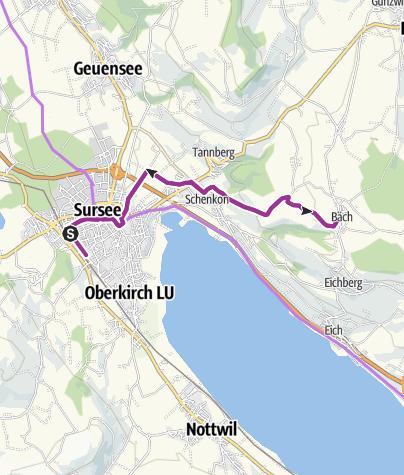 "Map / Genussroute Sempachersee - ""Käse & Bier"""