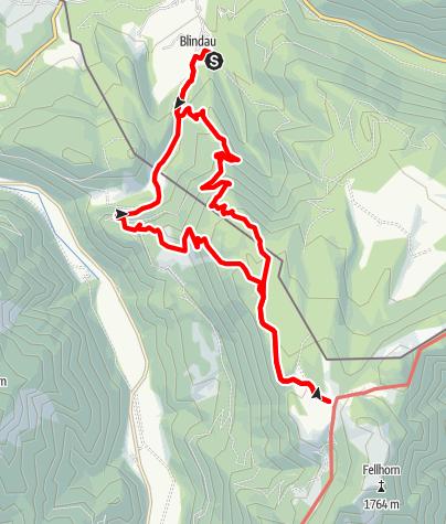 Karte / Straubinger Haus - Rundtour von Blindau
