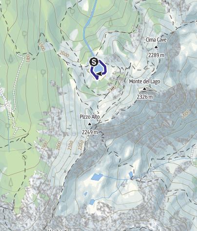 Karte / Lago di Erdemolo L