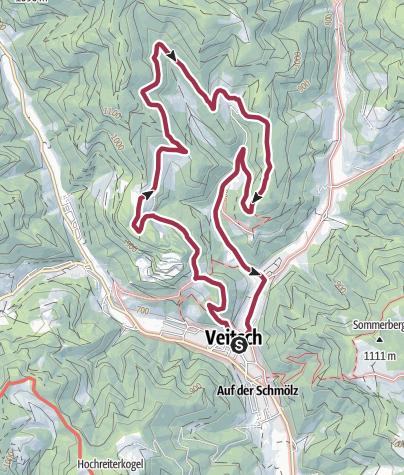 Karte / Magnesitwanderweg Veitsch