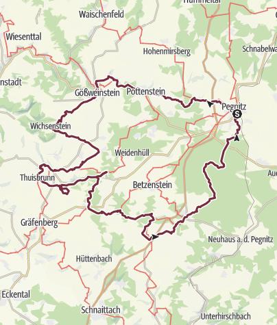 Fränkische Schweiz Karte.5 Tage Durch Die Südöstliche Fränkische Schweiz Fernwanderweg