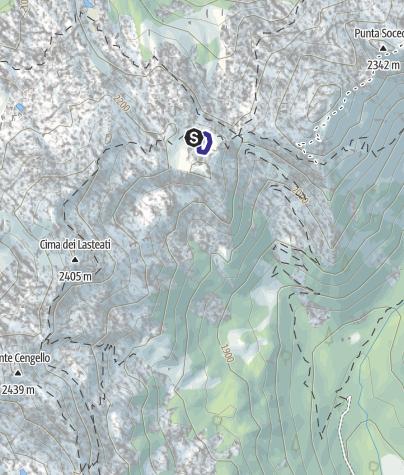 Mappa / Lago di Forcella Magna U
