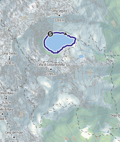 Karte / Lago di Costa Brunella R