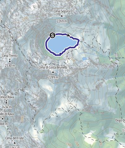 Mappa / Lago di Costa Brunella R