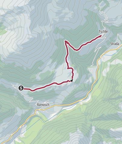 Karte / Vnà - Tschlin