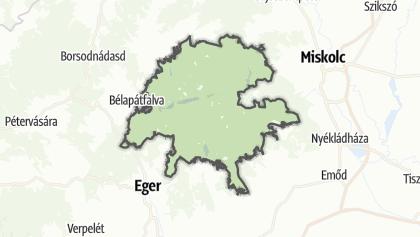 Mapa / Bükki Nemzeti Park