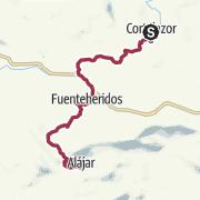 Map / Cortelazor to Alajar
