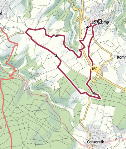 Karte / Hubertusweg im Moselhunsrück bei Longkamp