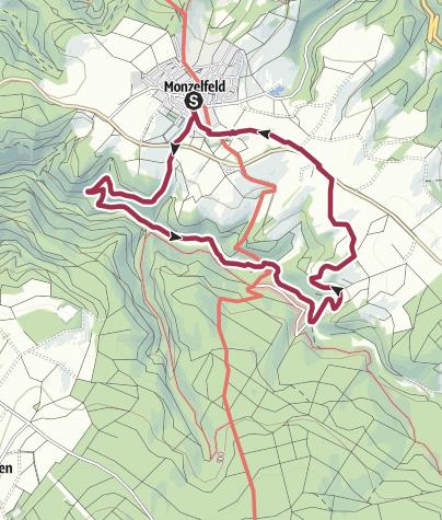 Karte / Ferienland-Wanderweg - Förster Kleinmann - Weg - Monzelfeld