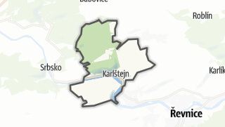 מפה / Karlštejn
