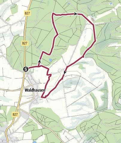 """Karte / Zu den """"Waidsteinen"""" im Grauen Forst"""